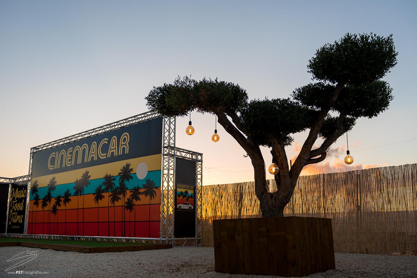 Atardecer en Cinemacar Alicante