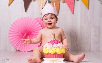 Feliz cumpleaños Nayara, Smash Cake en Alcoy